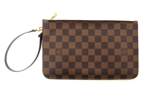 Authentic Louis Vuitton Damier Ebene Neverfull Pouch Pochette