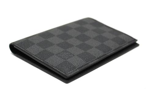 Authentic Louis Vuitton Damier Graphite Canvas Passport Cover Holder