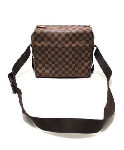 Authentic Louis Vuitton Damier Ebene Canvas Naviglio Messenger Bag
