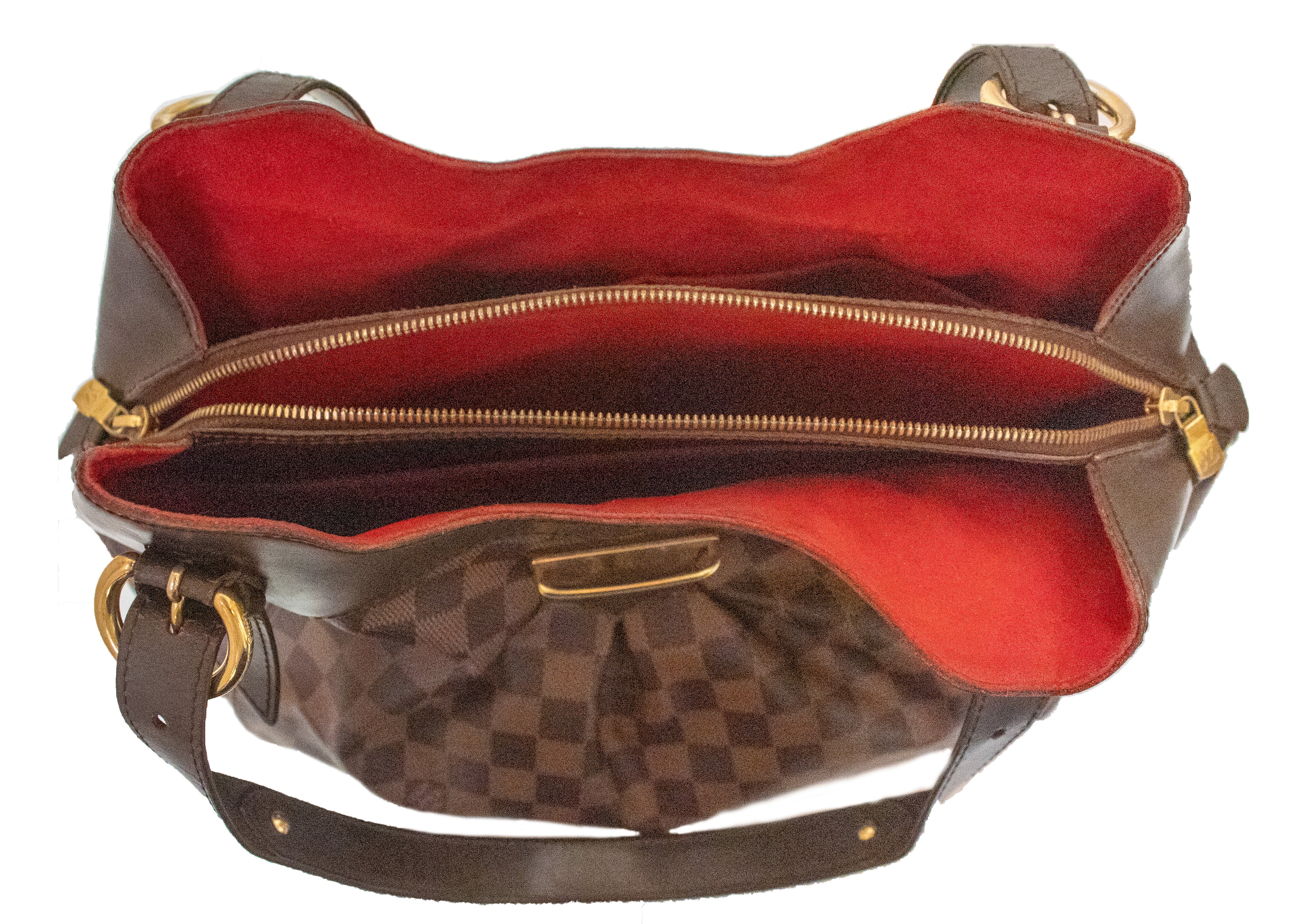 Authentic Louis Vuitton Damier Ebene Sistina GM Shoulder Bag