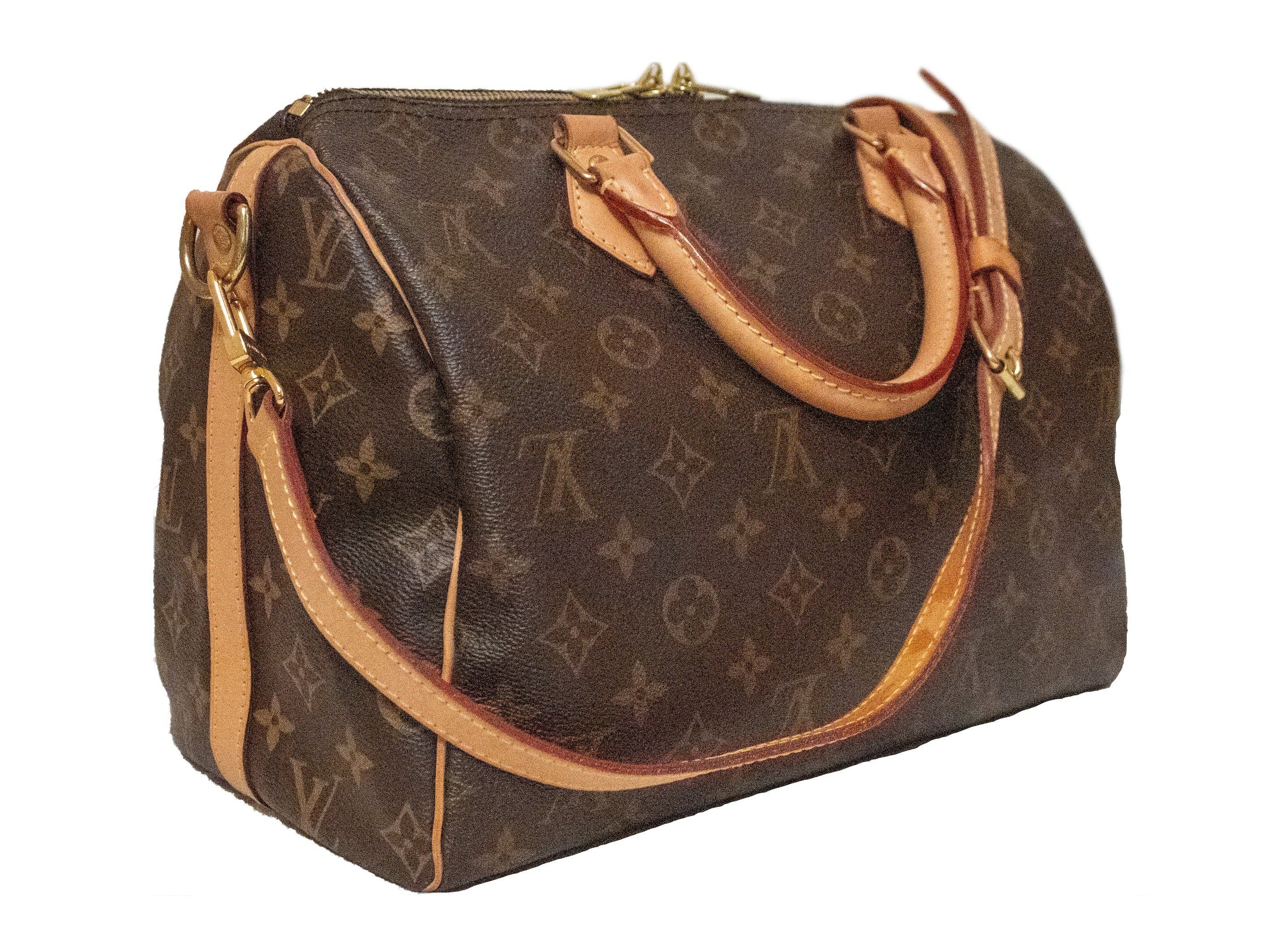 Authentic Louis Vuitton Classic Monogram Speedy 30 Bandouliere Bag