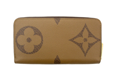 Authentic Louis Vuitton Large Reverse Monogram Canvas Zippy Wallet