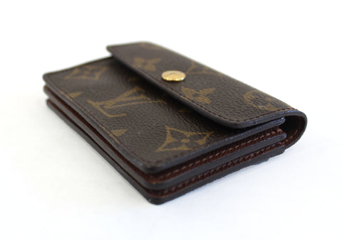 Authentic Louis Vuitton Monogram Canvas Small Card Holder Coin Wallet
