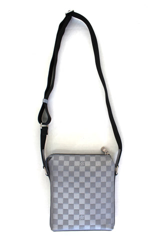 Authentic Louis Vuitton Grey Damier Infini Leather Discovery BB Messenger Crossbody Bag