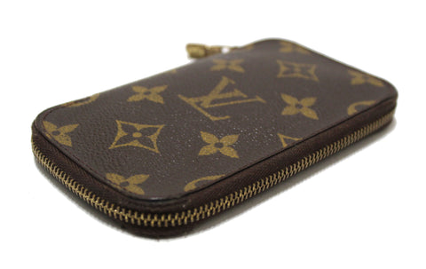 Authentic Louis Vuitton Monogram Canvas Zip Around 6 Key Holder Case