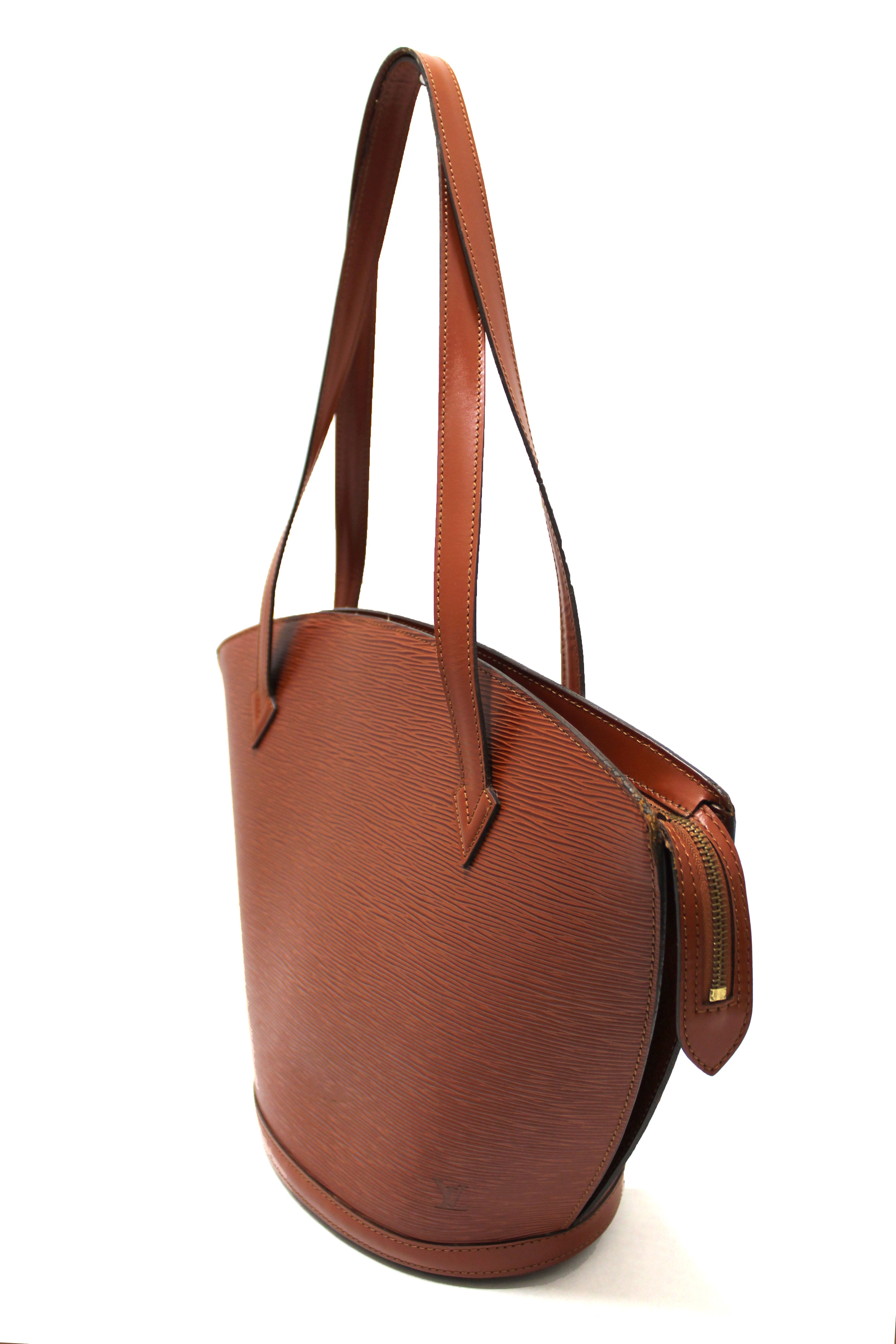 Authentic Louis Vuitton Brown Fawn Epi Large St Jacques Shoulder Tote Bag