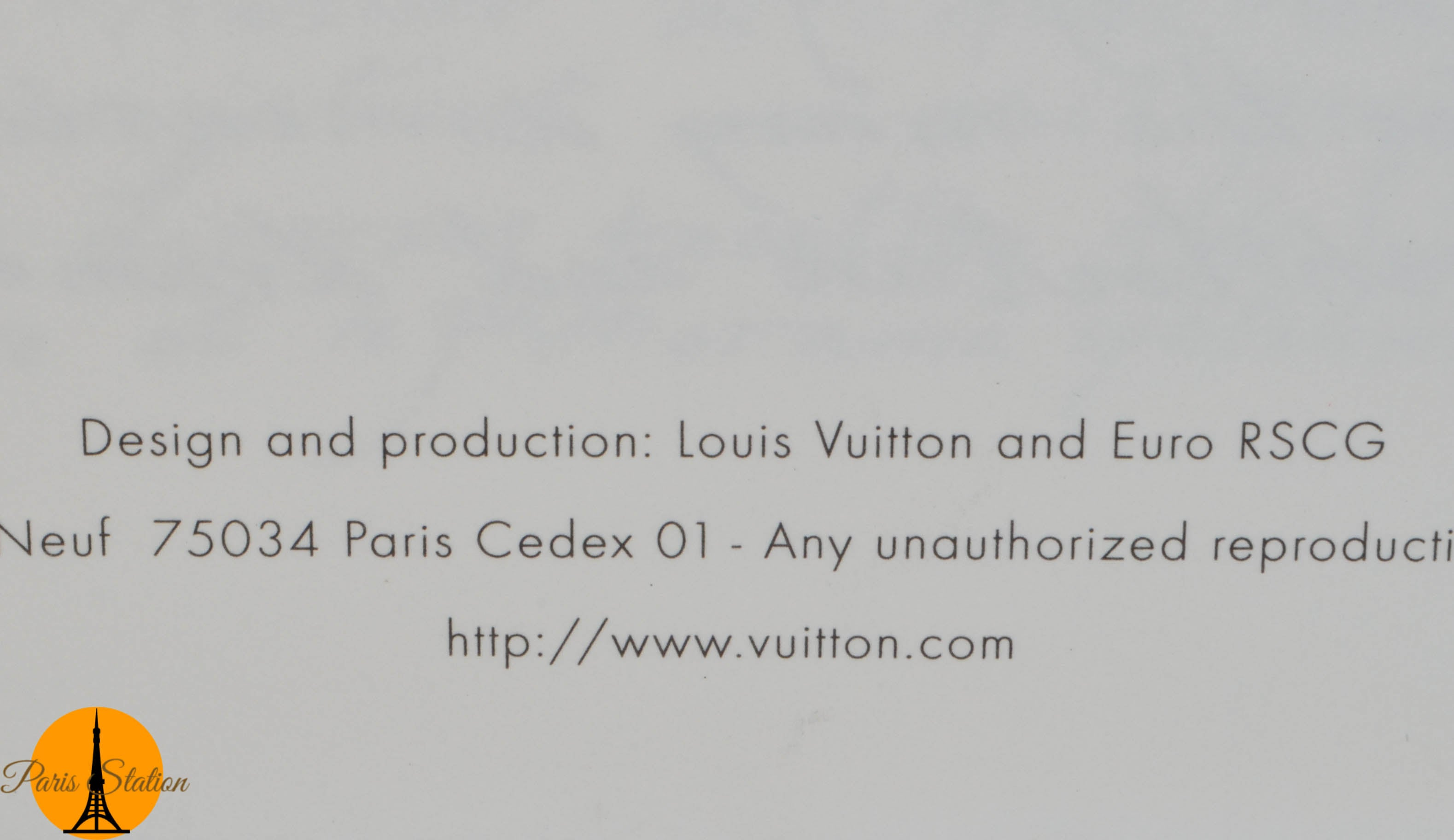 Authentic Louis Vuitton Blue Sydney Australia Travel Book