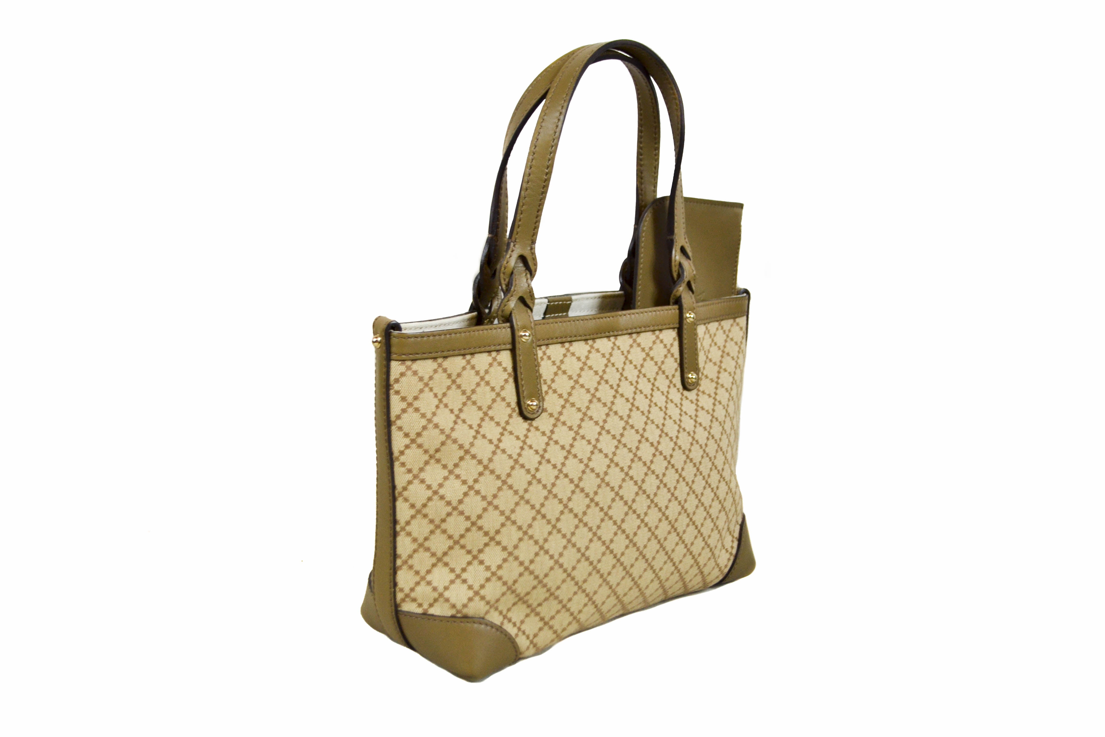 Authentic New Gucci Olive Green Small Tote Shoulder Bag 269878