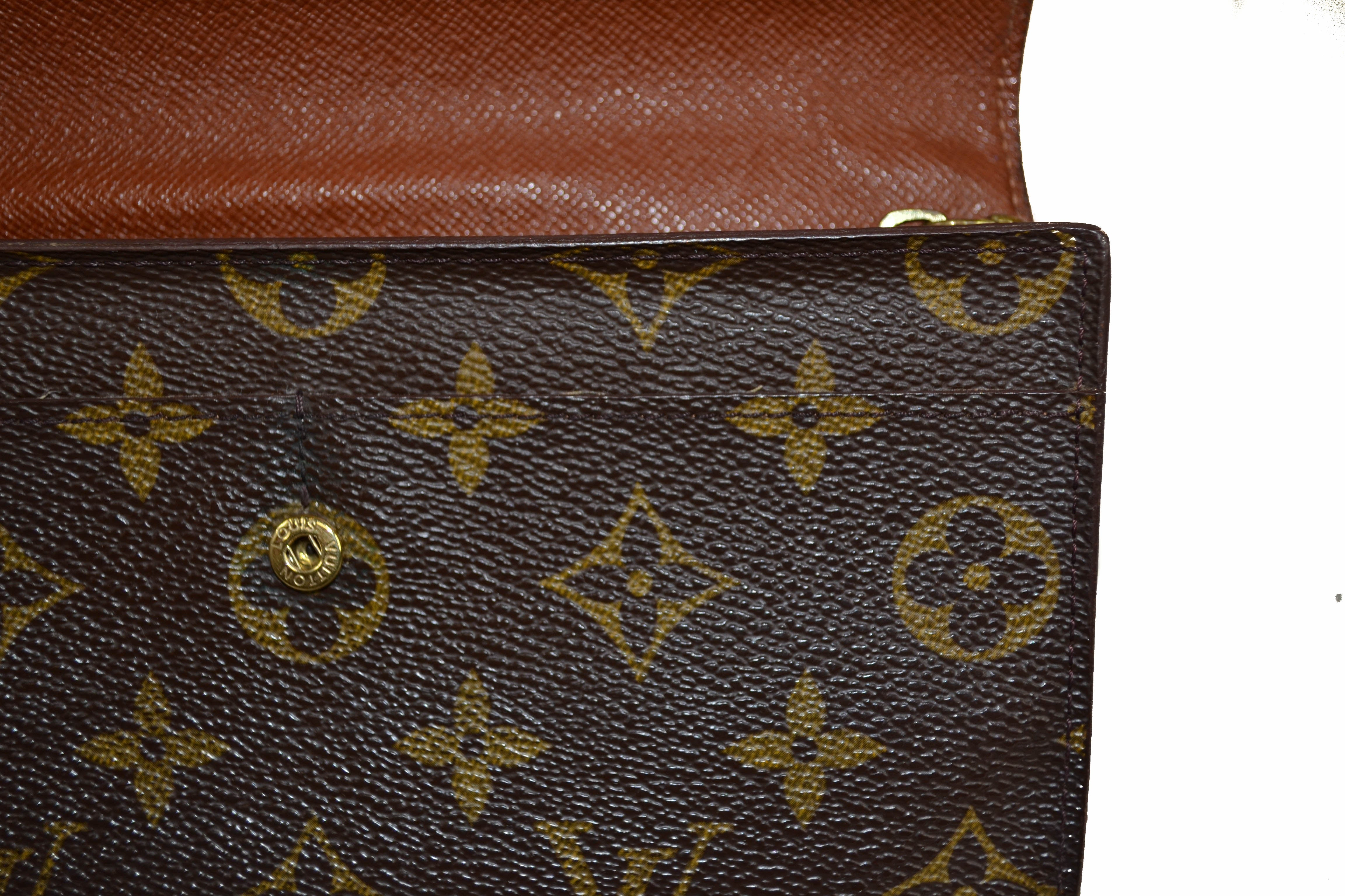 Authentic Louis Vuitton Monogram Canvas Sarah Wallet