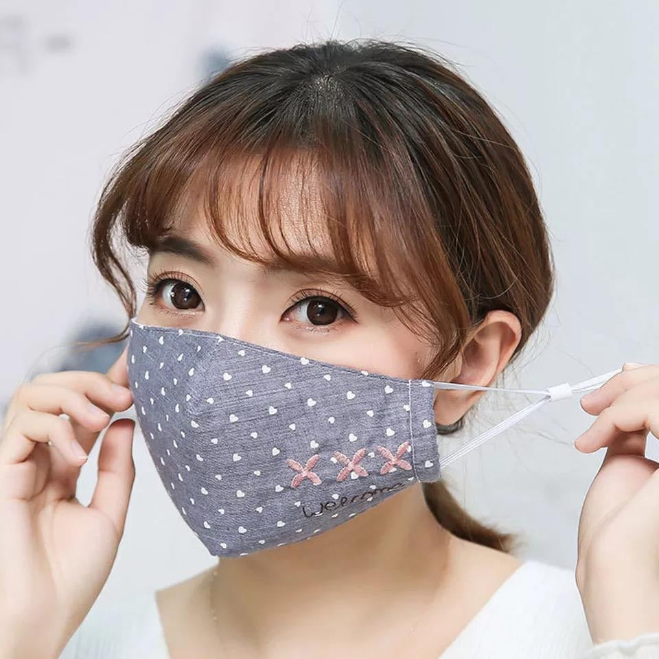 Non Medical Denim Hearts Welcome Light Weight & Comfortable Wear Face Mask/Covering
