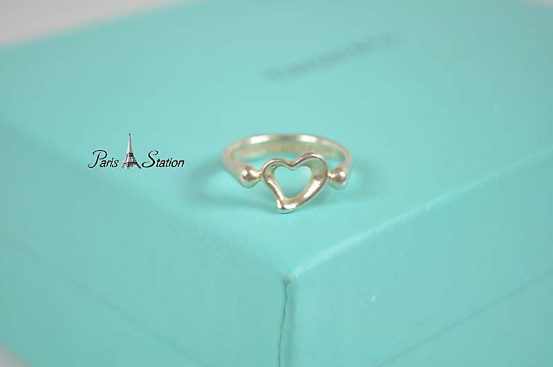 Authentic Tiffany & Co. Sterling Silver Heart Ring Size 3.5