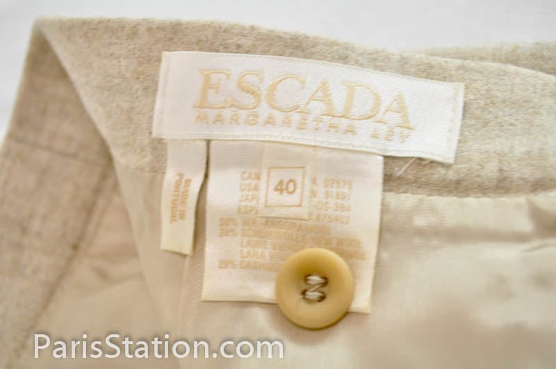 Authentic Escada Beige Skirt Size 40