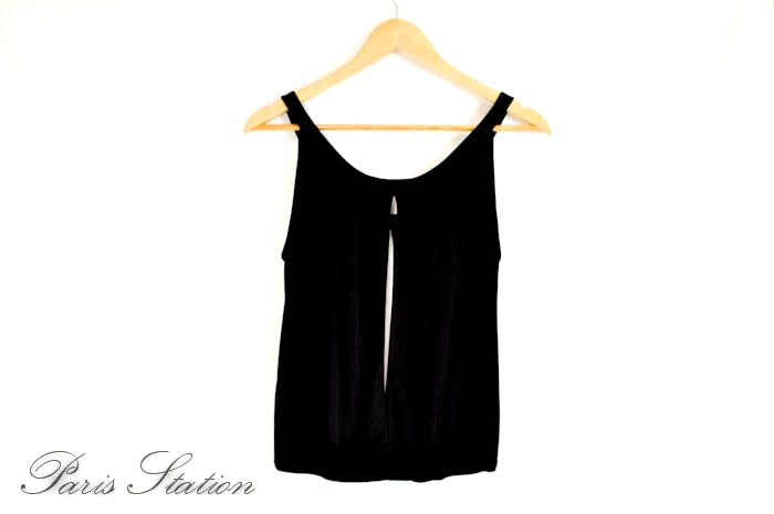 Authentic Hermes Black Tank Top Shirt Size 40