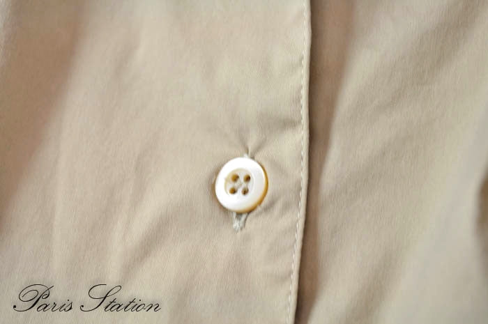 Authentic Prada Beige Long Sleeve Cotton Shirt Size 38