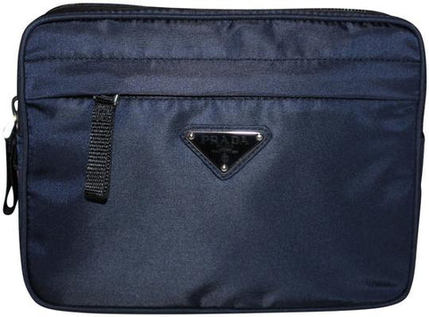 Authentic New Prada Navy Blue Nylon Waistbag