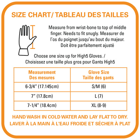 Size chart for Dig It High-5