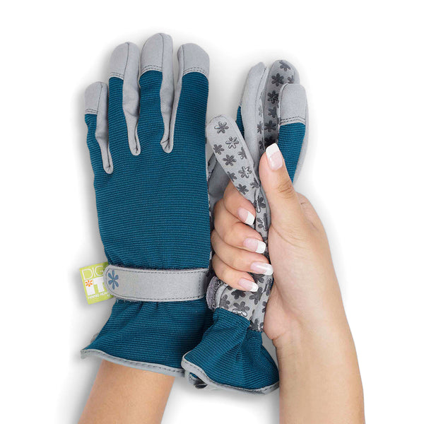 Dig It® Handwear Women's Utility and Gardening Gloves Blue-Grey