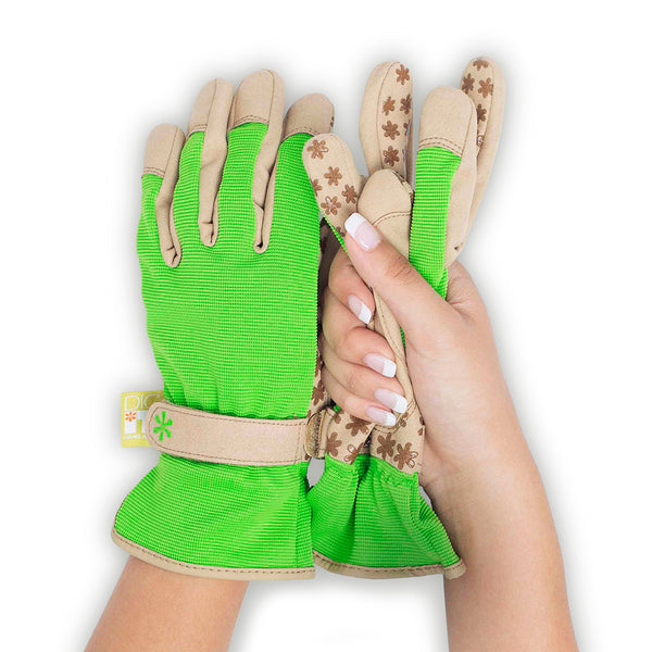 Dig It® Handwear Women's Utility and Gardening Gloves Green-Tan