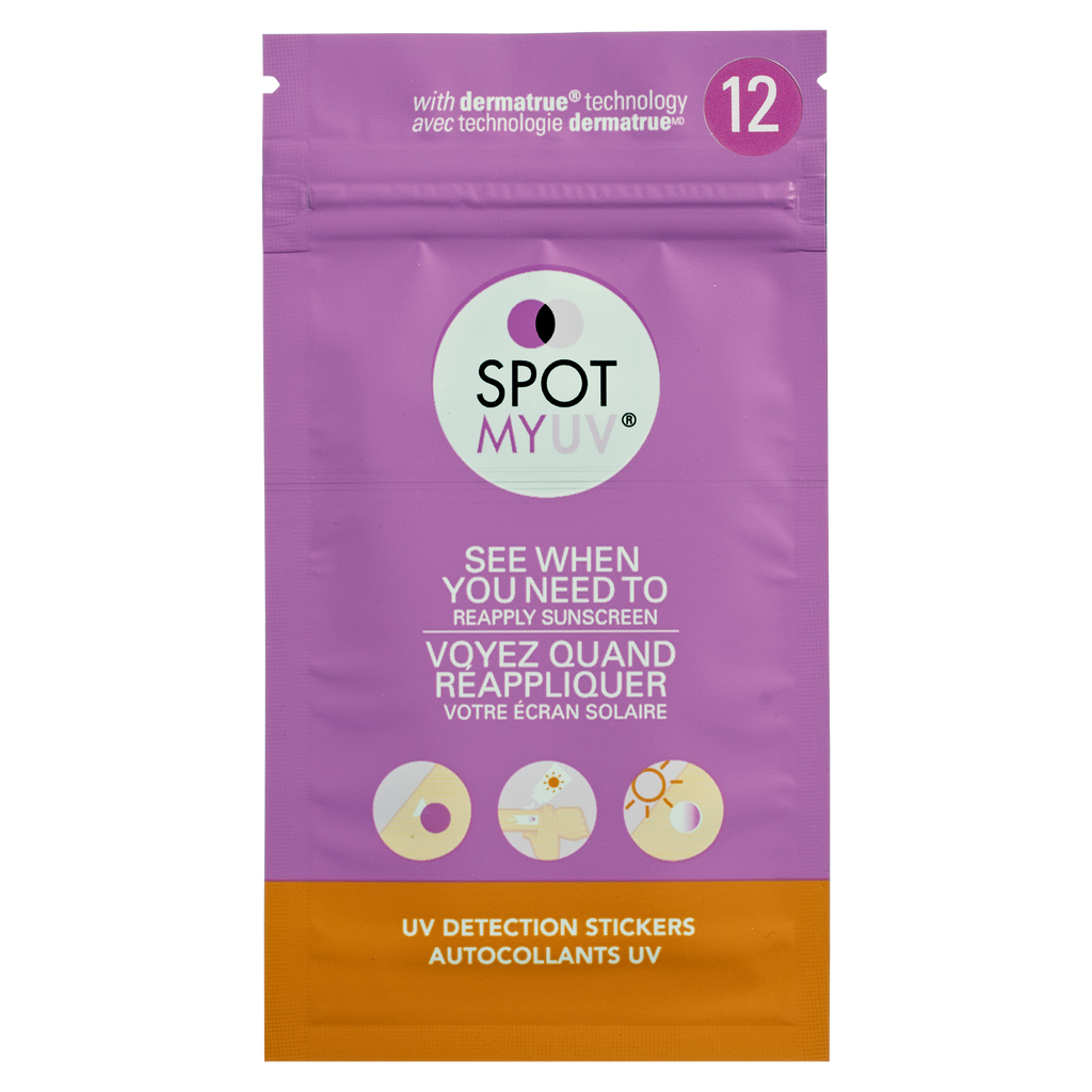 SPOTMYUV 12 Spot packaging in english and french.