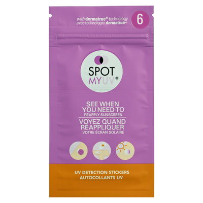 SPOTMYUV 6 Spot packaging in english and french.