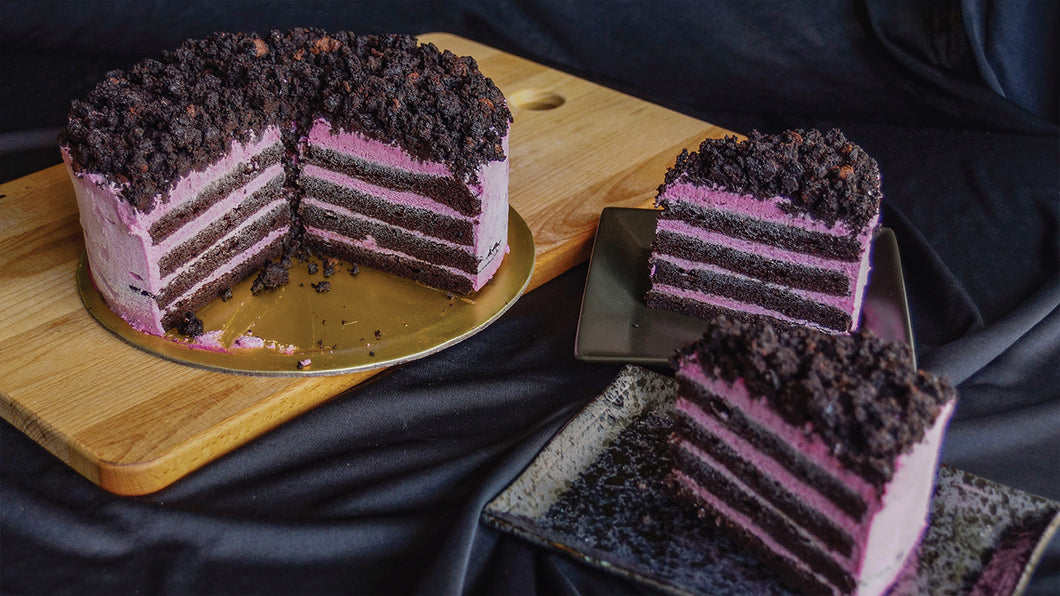 Blackcurrant Chocolate Cake