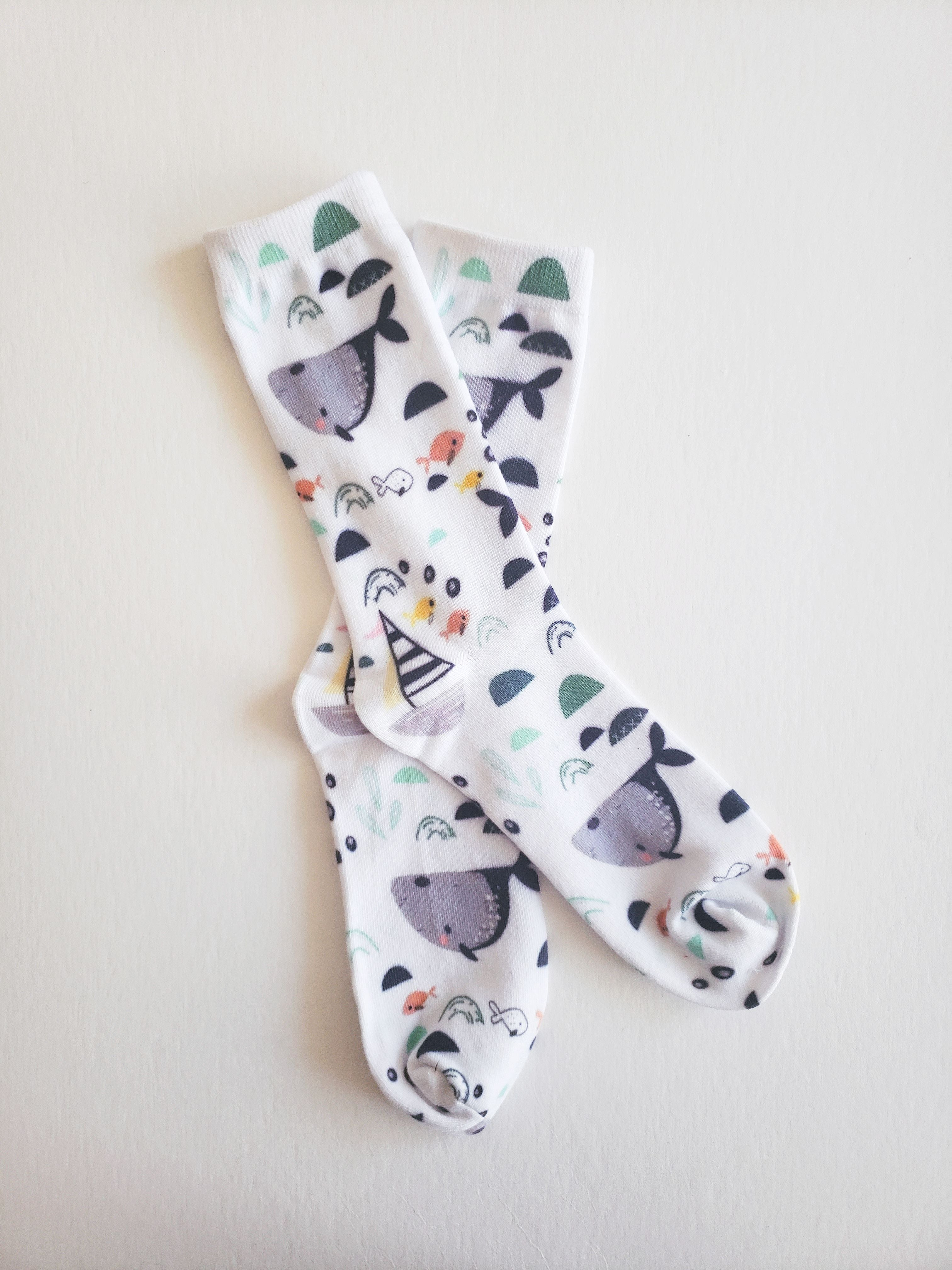Organic Cotton Whale Socks - EmMeMa - Buy matching soft, comfy socks