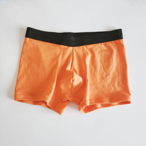Orange Mens Boxer Briefs in Hemp & Organic Cotton