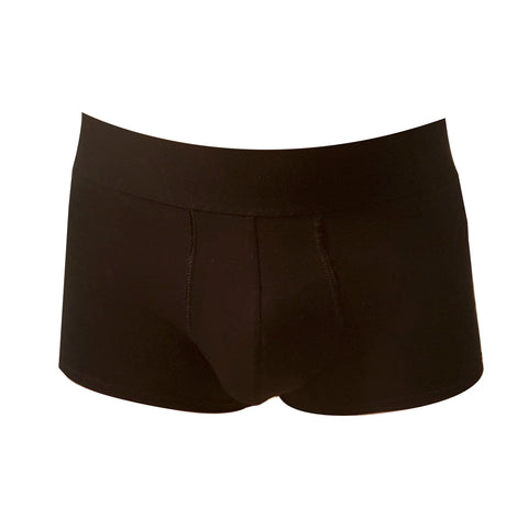 Black Organic Cotton Boxer Briefs for men