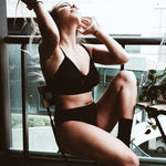 Black Organic Cotton Bralette