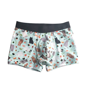 Cat and Sushi Boxer Briefs for men