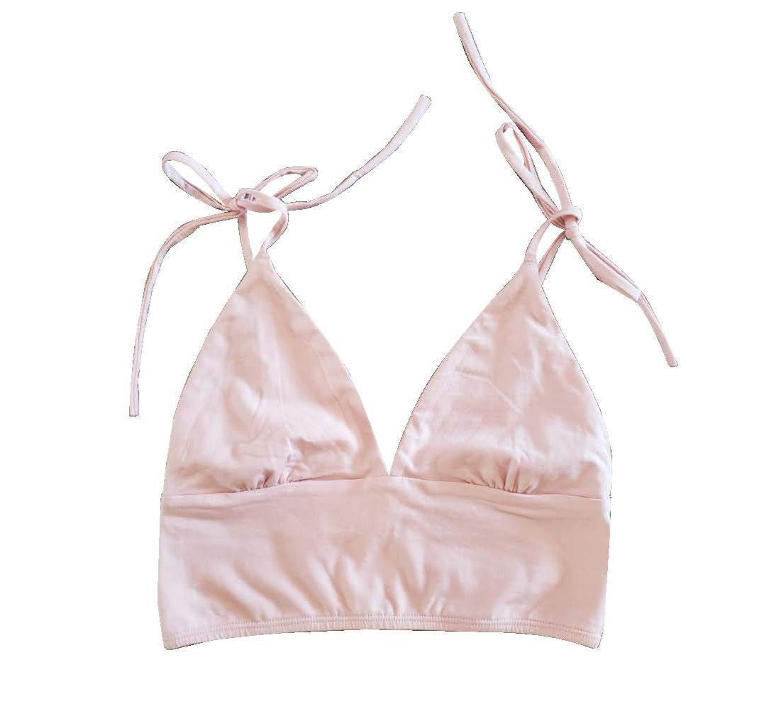 Dusty Pink Comfy Organic Cotton Bralette