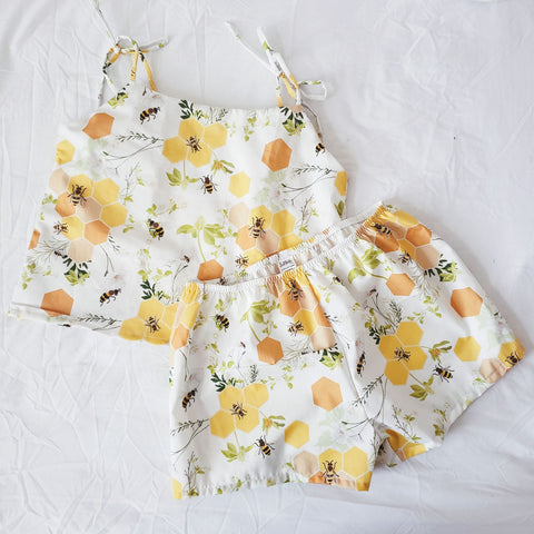 Honey Bee Organic cotton Pajama set