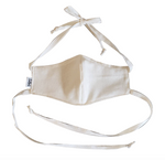 Linen/ organic cotton face mask with slot for disposable tissue