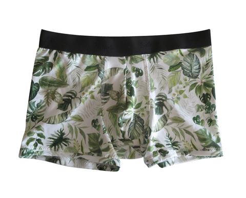 Monstera Deliciosa Organic Cotton Boxer Briefs