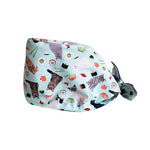 Cotton scrub cap, double layer reversible