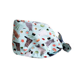 Organic Cotton scrub cap, double layer reversible