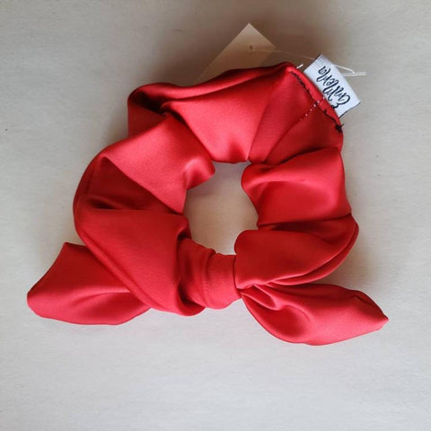 Red Satin Scrunchie
