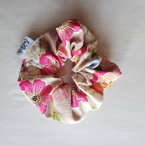 Floral Cotton Scrunchie