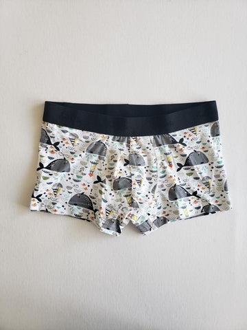 East Coast whale Organic cotton misprint Boxer Briefs EmMeMa