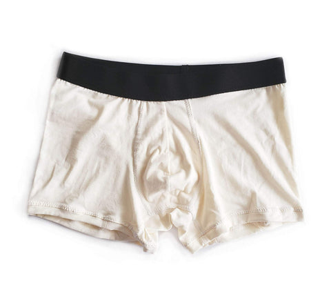 Cream/ Off white Certified Organic Cotton Boxer Brief Men