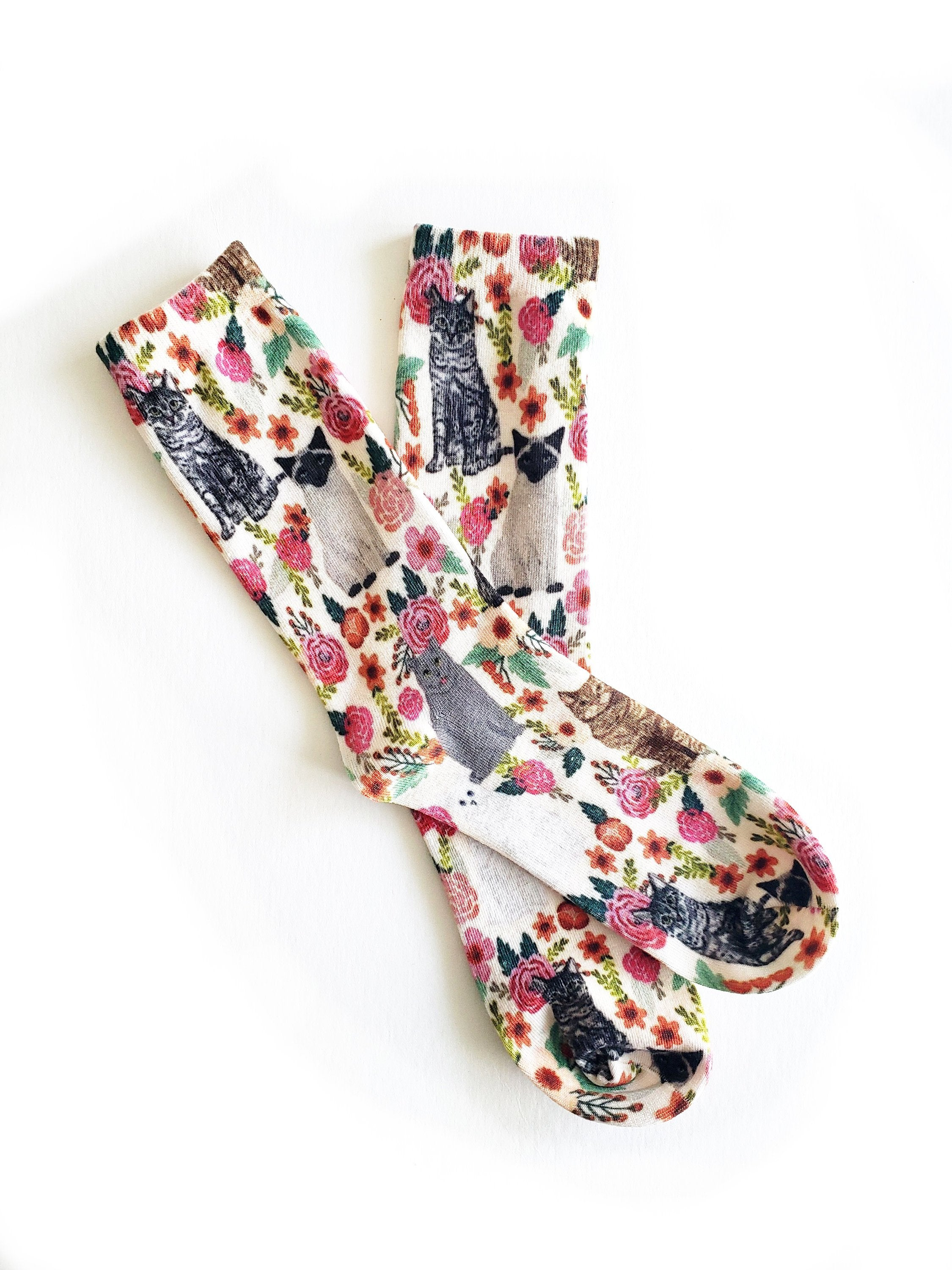 Vintage Cat Organic Cotton EmMeMa Socks