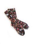 Dog and Floral Organic Cotton Socks - EmMeMa