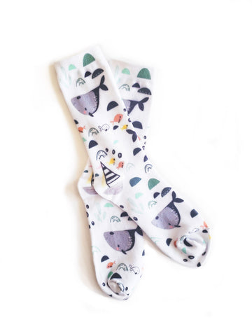 Cannabis and Rose Organic Cotton Socks