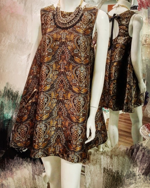 Brocade Trapeze Dress