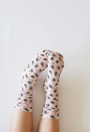 Organic Cotton Avocado Socks - EmMeMa - Buy matching soft, comfy socks