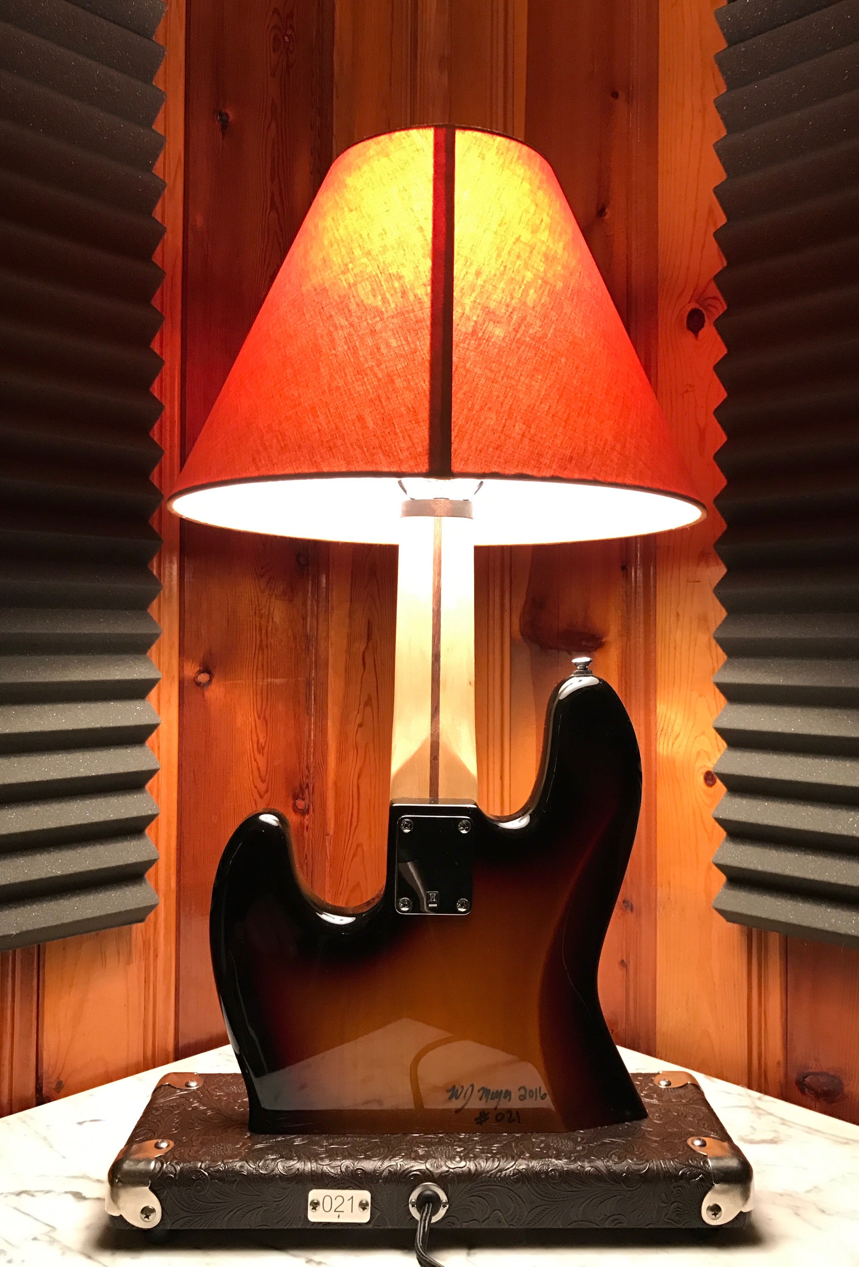 Guitar Lamp - Jazz Bass Style #021 of Collection