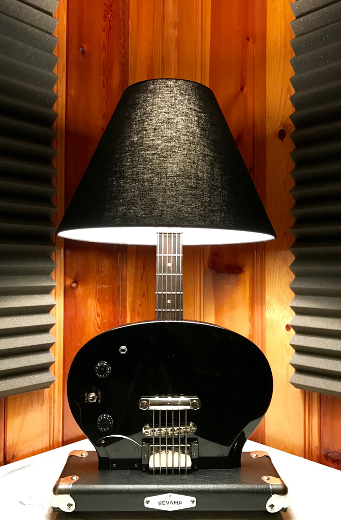 Guitar Lamp -  SG Style Black Bottoms Up  #014 of Collection