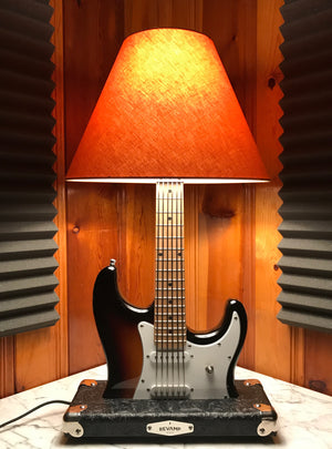 Guitar Lamp -  Strat Style 3 Tone Sunburst #030 of Collection