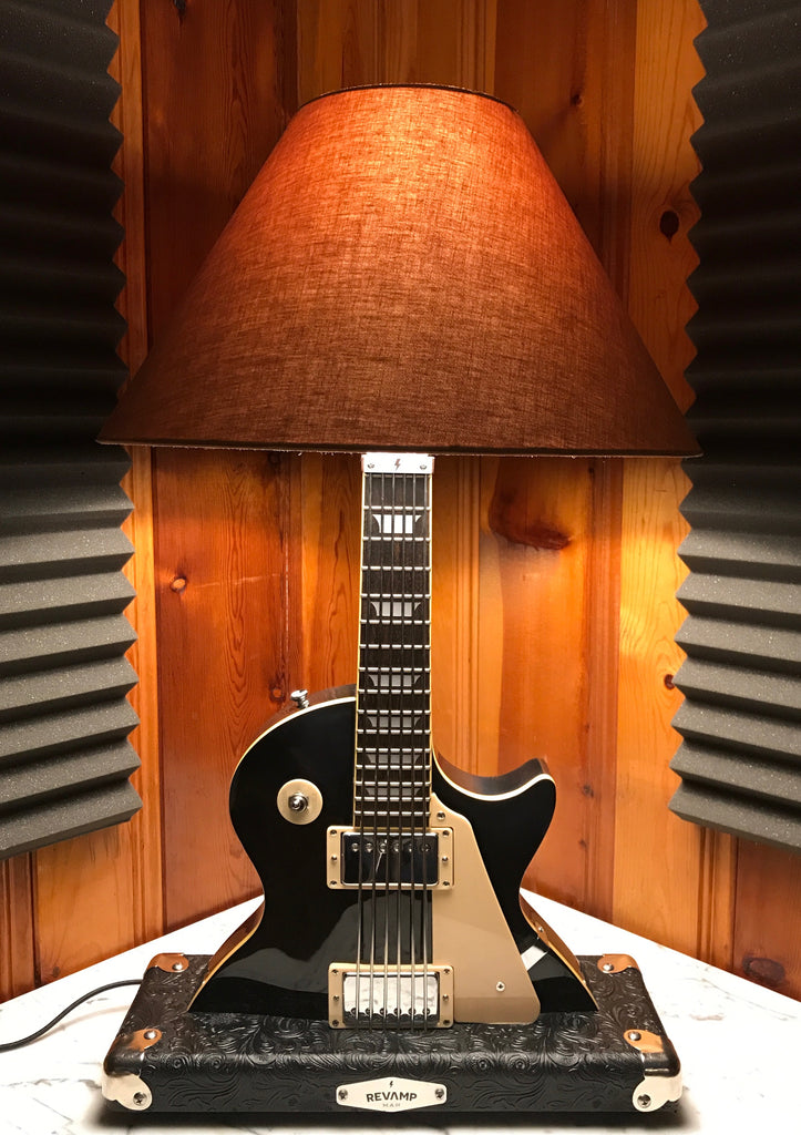 Guitar Lamp -  LP Style Black #044 of Collection Sold