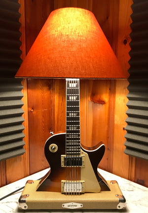 Guitar Lamp -  LP Style Tobacco Burst #031 of Collection SOLD